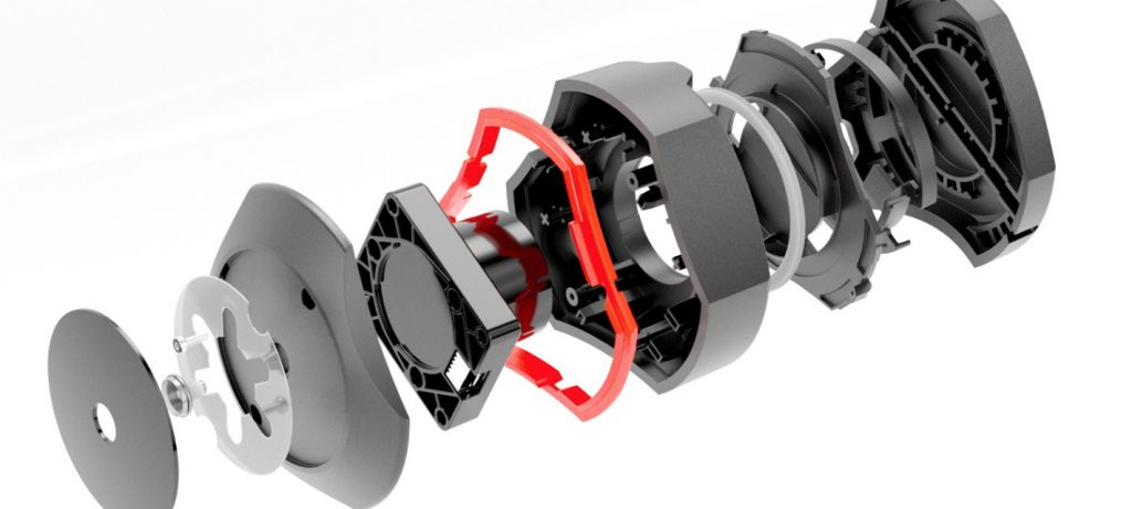 Spyder 5 exploded view 3D rendering