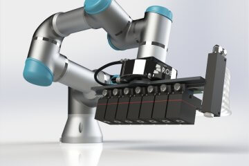 Universal Robots Collaborative Robot Arm UR5 with Custom Fixtures